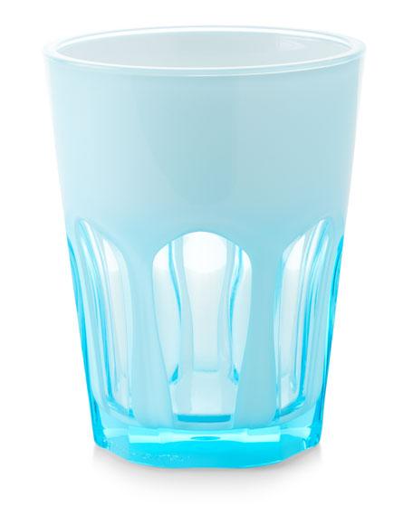 Double Face Acrylic Tumbler Glass, Turquoise