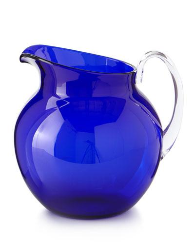 Palla Transparent Acrylic Pitcher  Blue