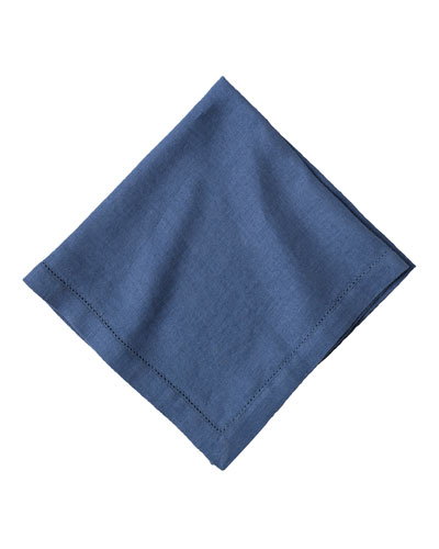 Heirloom Linen Napkin  Delft Blue