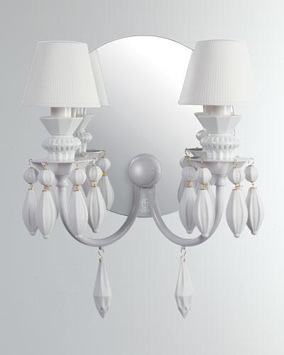 Belle de Nuit 2-Light Wall Sconce  White
