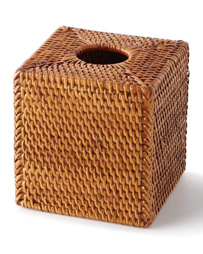 Dalton Rattan Tissue Box Cover