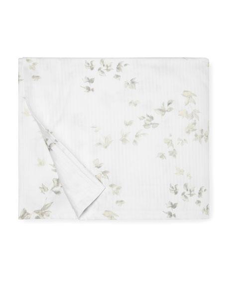 Floral Herringbone Full/Queen Duvet Cover