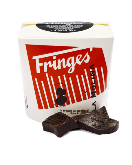 Fringes Take Away 24-Piece Dark Chocolate with Toasted Millet & Red Pepper