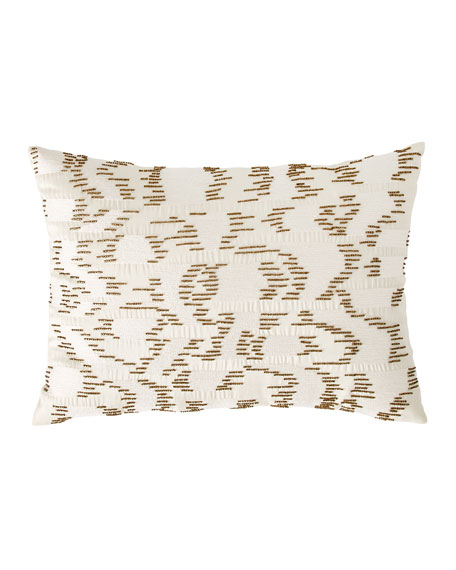 Watermark Embroidered Beaded Decorative Pillow