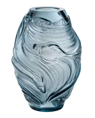 Medium Poissons Vase  Persepolis Blue