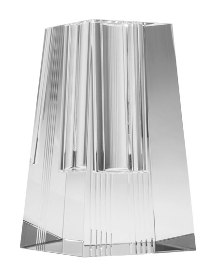 Diamond Cut Tall Quad Vase
