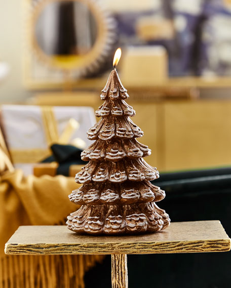 Large Gold Tree Candle
