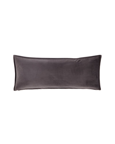 Velvet Gray Lumbar Pillow