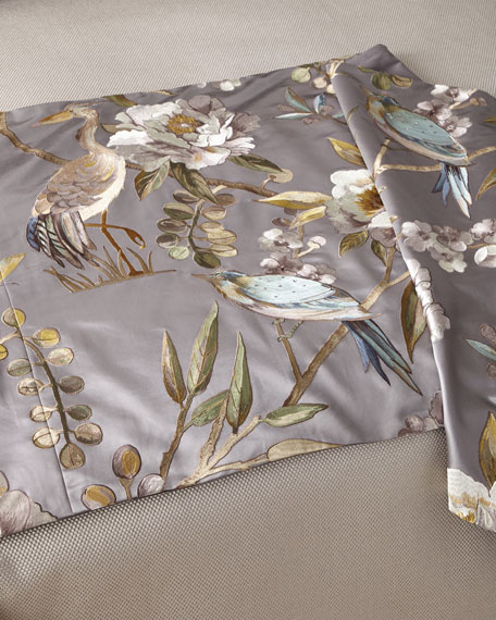 Image 1 of 1: Avia Gray Queen Bed Scarf