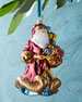 Jewel Santa Christmas Ornament