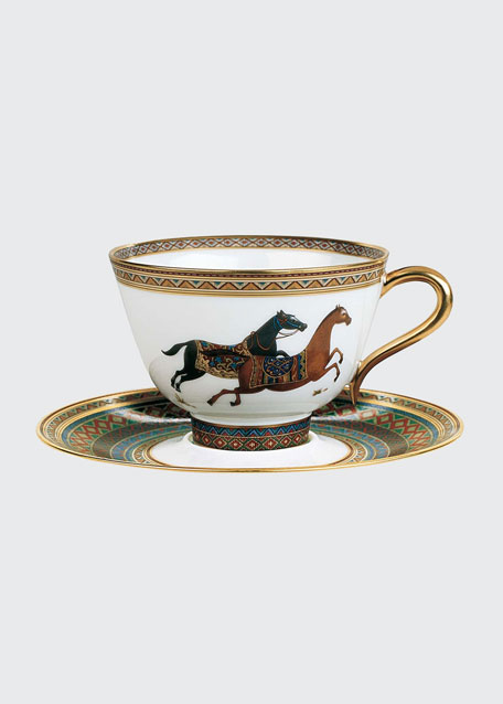 Cheval D'Orient Tea Cup & Saucer