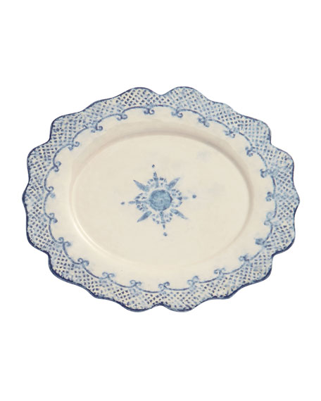 Burano Oval Scalloped Plate