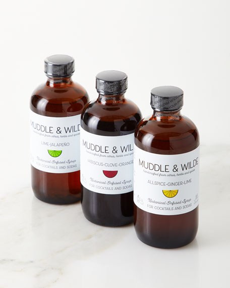 Image 1 of 1: Botanical Infused Syrup 3 Pack Gift Set