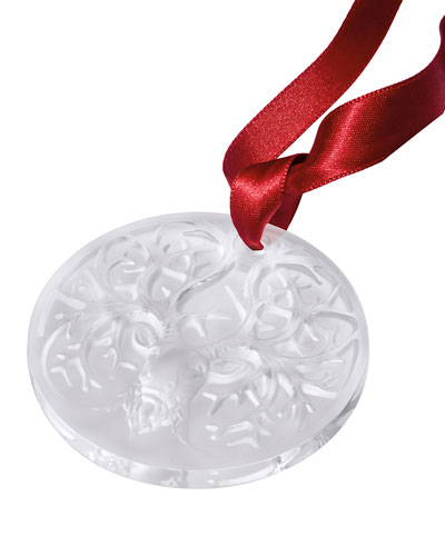 2019 Reindeer Christmas Ornament  Clear
