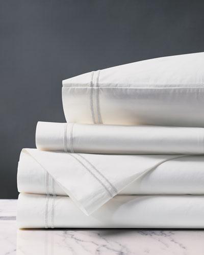 Enzo King Sheet Set  White