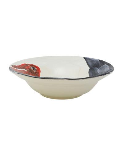 Wildlife Turkey Medium Serving Bowl