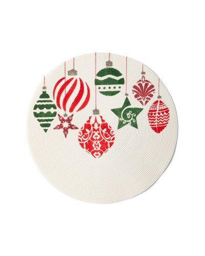 Painted Ornaments Holiday Placemat
