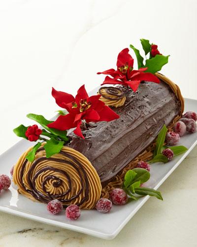 Buche de Noel Yule Log Cake  For 12-24 People