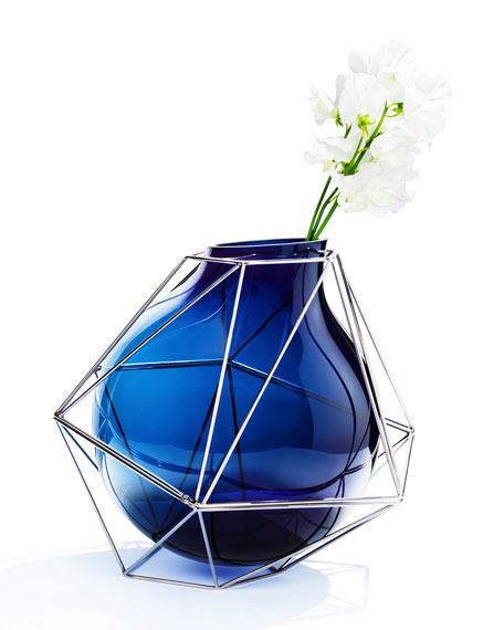 Image 1 of 1: Framework Blue Vase