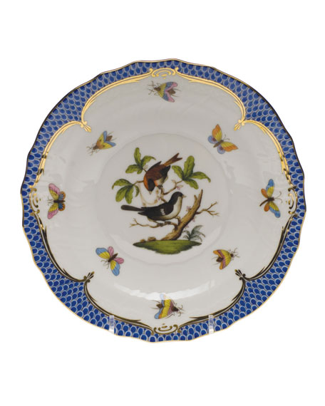Rothschild Bird Blue Motif 4 Salad Plate