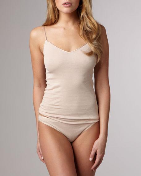 Cotton Seamless High-Cut Briefs, Skin
