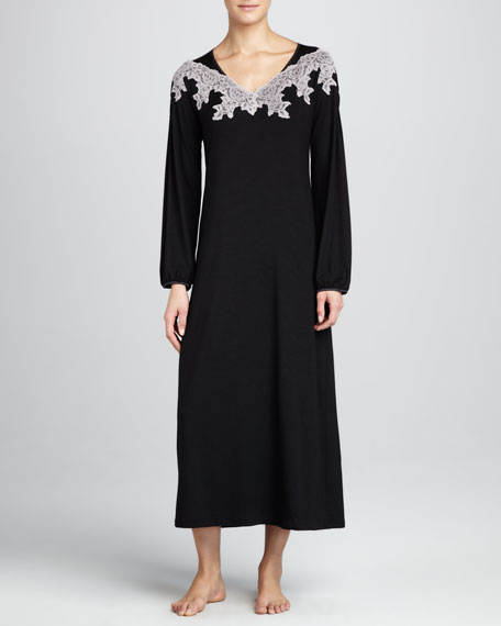 Vintage Lace Long-Sleeve Gown