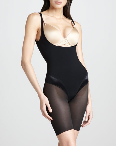 Haute Contour Open-Bust Bodysuit, Pitch