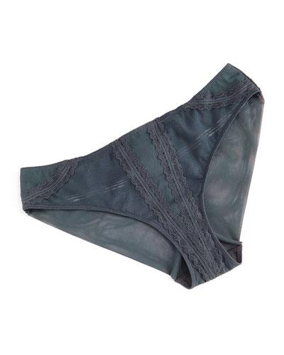 B8 Mesh-Lace Bikini Briefs
