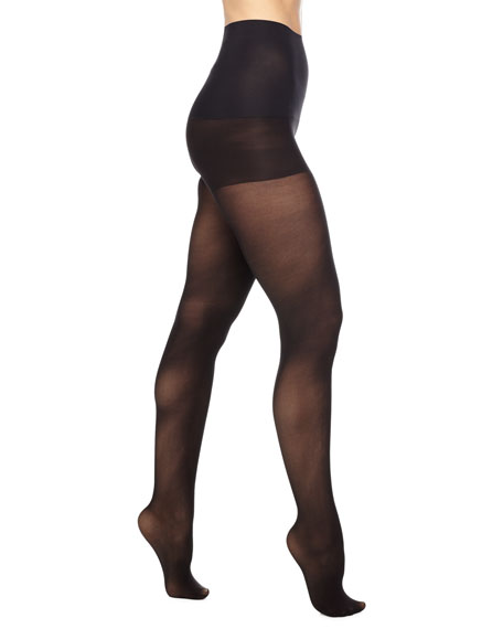 Commando Semi-Opaque Control Tights, Black