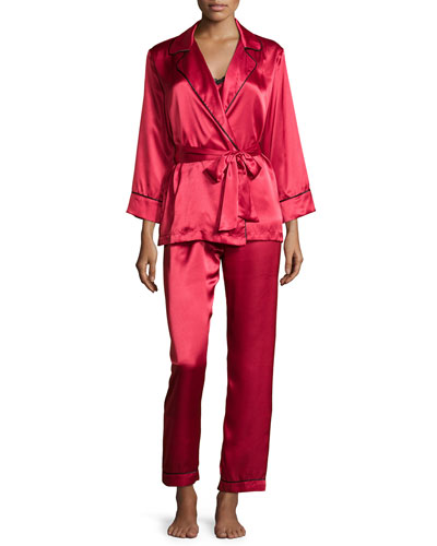 Charmeuse 3-Piece Pajama Set