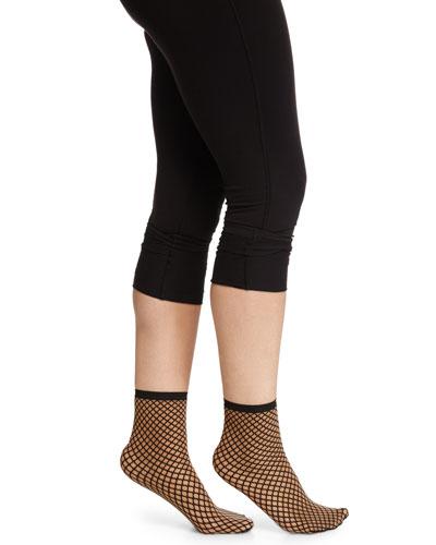 Sibylle Sheer Diamond-Pattern Socks