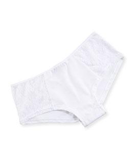 Arizona Low-Rise Lace Hotpants, White