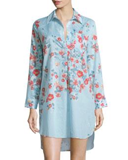 Fiore Printed Cotton Sleepshirt