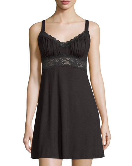 Talco Curvy Chemise Nightie, Black