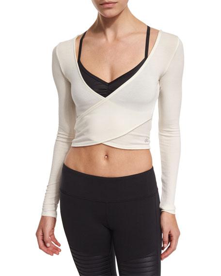 18c3a4c447e00 Alo Yoga Amelia Long-Sleeve Crop Top