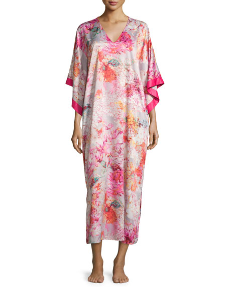 Autumn Charmeuse Caftan, Multicolor
