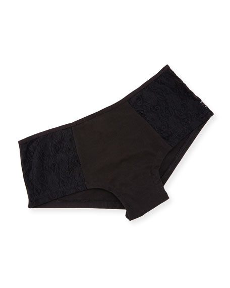 Arizona Low-Rise Lace Hotpants, Black