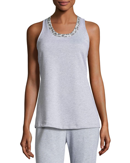 Cosabella Sterling Racerback Lounge Camisole, Heather Gray