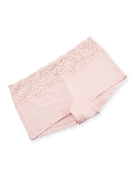Sonia Solid Boyshorts, Pink Lilly