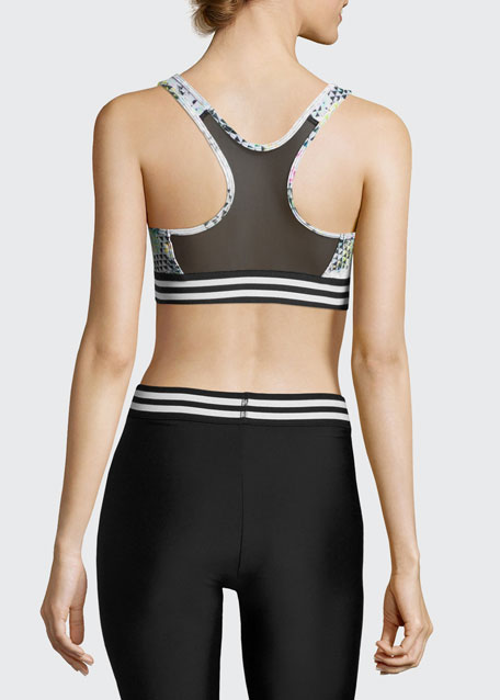Graphic Elastic Band Low-Impact Sports Bra, Geometric Multicolor