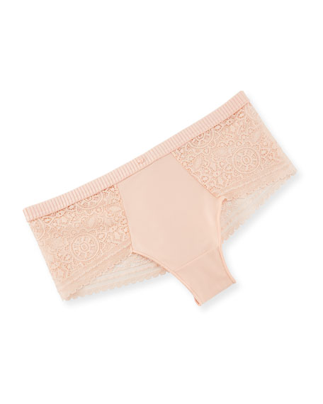 Mandala Lace-Trim Boyshort Briefs