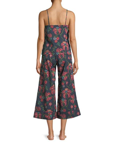 Floral-Print Camisole Pajama Set