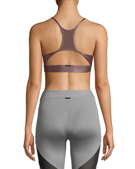 Pacifica Low-Impact Racerback Metallic Sports Bra