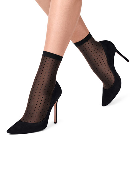 Dotted Sheer Ankle Socks