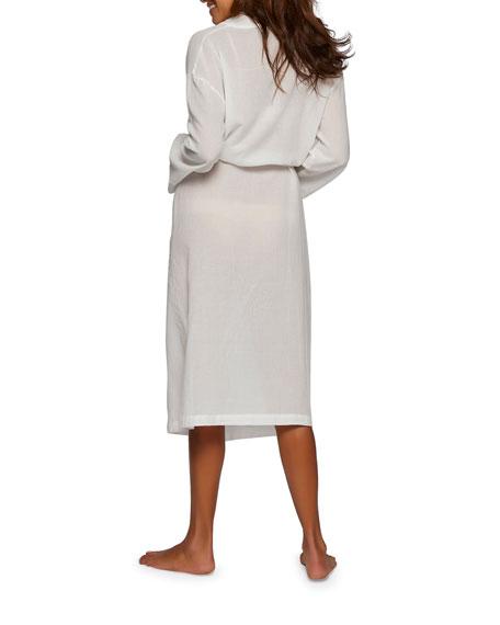 Gauzy Cotton Long Robe