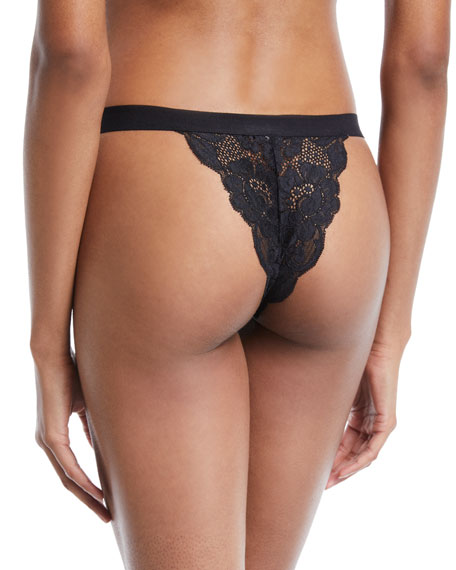 Getting Cheeky Lace Tanga Thong Underwear