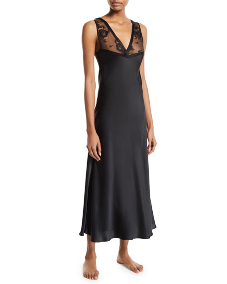 Image 1 of 1: Samui Lace V-Neck Nightgown