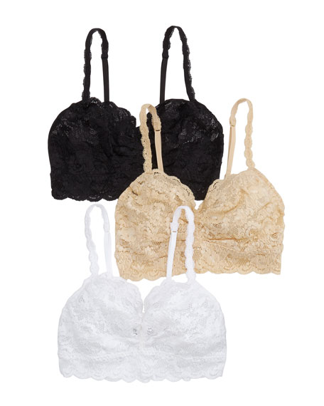 3-Pack Never Say Never Sweetie Lace Soft Bras