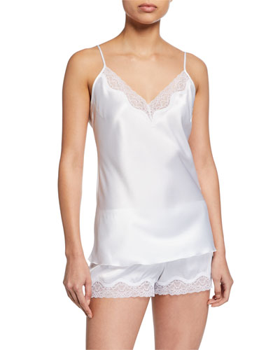 Lace-Trim Satin Bridal Camisole