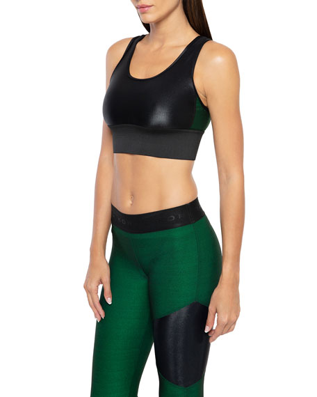 Bermuda Infinity Scoop-Neck Sports Bra